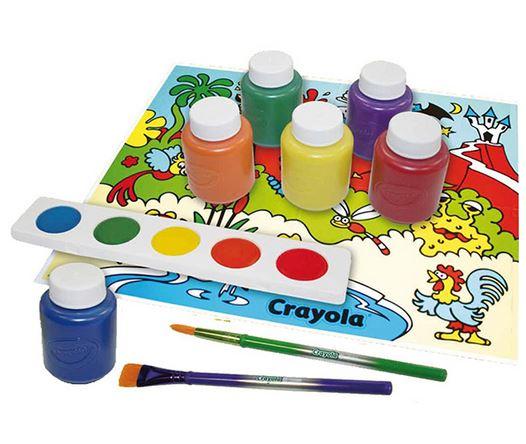 بسته رنگ آمیزی ۶ مخزن رنگ Crayola