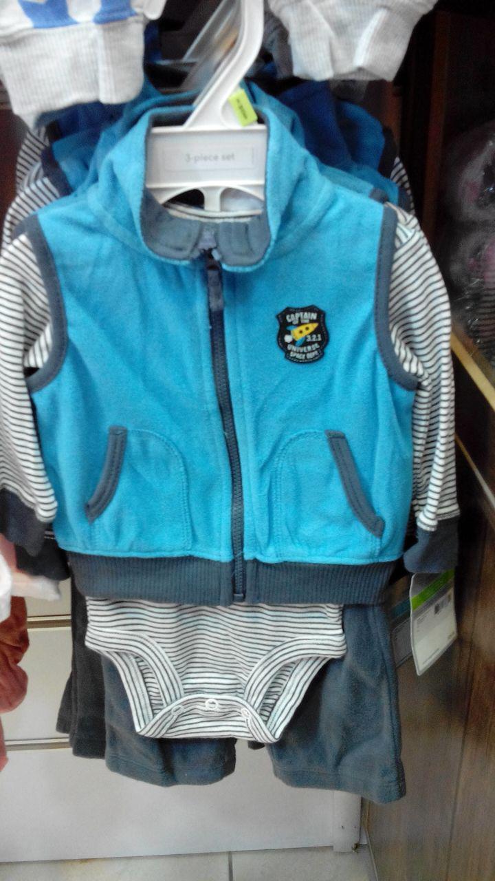 سه تکه پسرانه کارترز سویی شرت بادی شلوار فوتر  گرم
