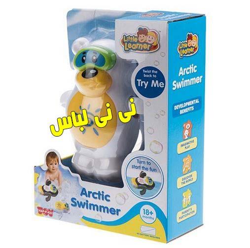 عروسک حمام مدل شناگر قطبی